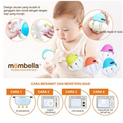Mombella Octopus Teether Toy 3M+