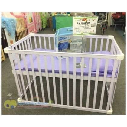 5 IN 1 Baby Cot with Water Mattress - N8002