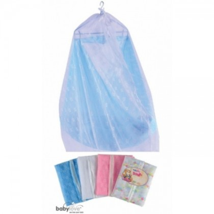 Baby Love Mosquito Canopy with ZIP - Embroidered