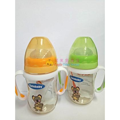 Cutebaby PPSU Bottle With Straw & Handle 6-12m+ (160ML)