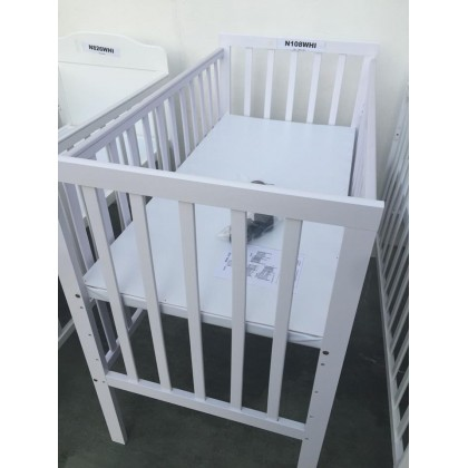 Baby Cot 2in1 White 24x48