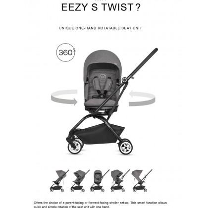 Cybex Eezy S Twist - Lavastone Black