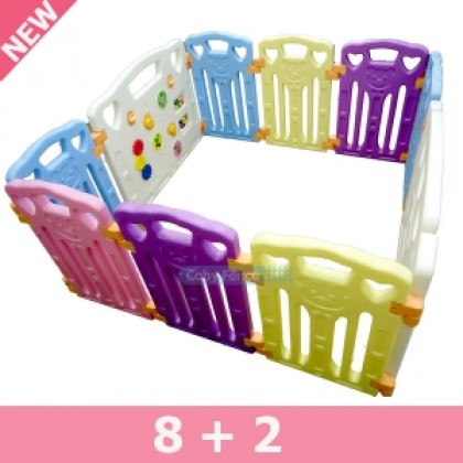 Coby Fence 8 panel + 1 Safety Door + 1 Activity Board (Butterfly)