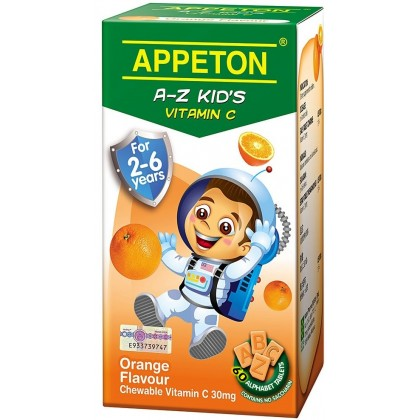 Appeton A-Z Vitamin-C 60s (For 2-6 years old) - Orange