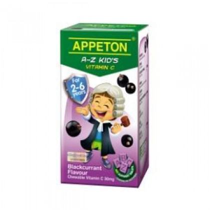 Appeton A-Z Vitamin-C 60s (For 2-6 years old) - Blackcurrant