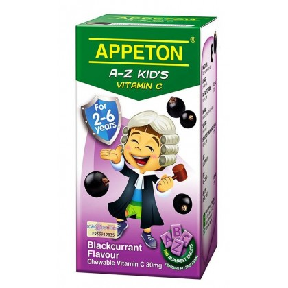 Appeton A-Z Vitamin-C 100s (For 2-6 years old) - Blackcurrant