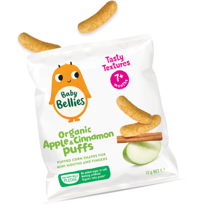 Little Bellies Organic Apple & Cinnamon Puffs 12g
