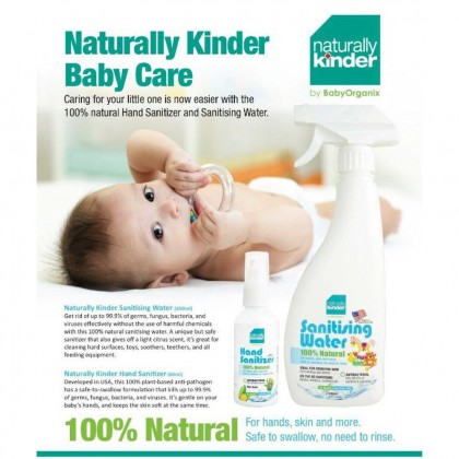 BabyOrganix Naturally Kinder Sanitising Water 400ml