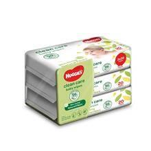 HUGGIES Clean Care Baby Wipes 20pcs x 3packs