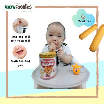 Natufoodies Milk Teething Rusks 15g