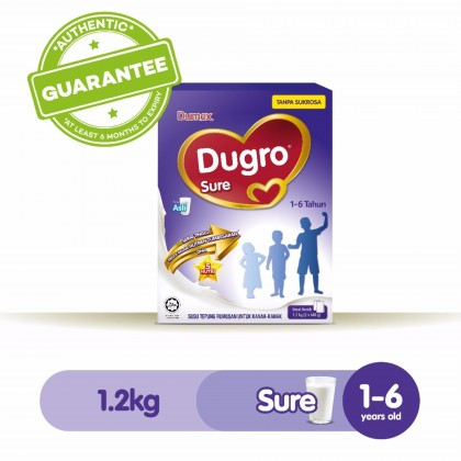 Dumex Dugro Sure Milk Formula (1-6 YEARS) 1.2KG