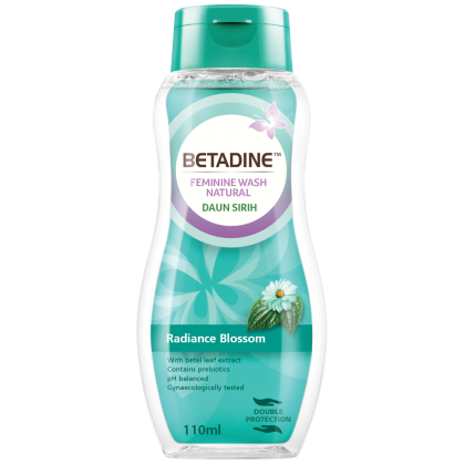 Betadine Feminine Wash Natural Daun Sirih 110ml