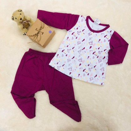 Naught Bear Baby Girl Long Sleeve+Long pant