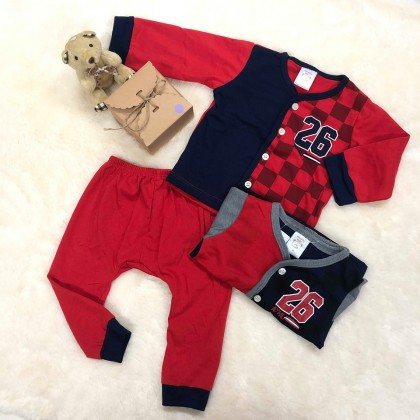 Naught Bear Baby Boy Long Sleeve+Long pant