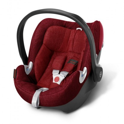 Cybex Aton Q Plus Hot & Spicy-Red Infant Carrier
