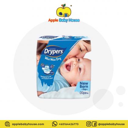 Drypers Wee Wee Dry Diapers TAPE - NEWBORN
