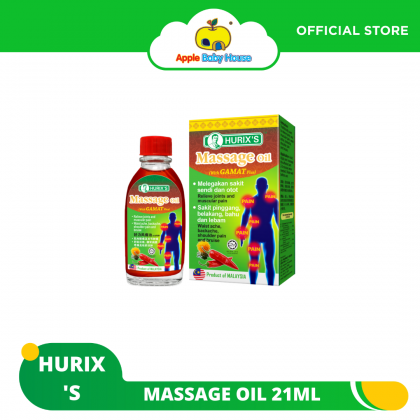 Hurix's Massage Oil (with Gamat  Plus) 21ml