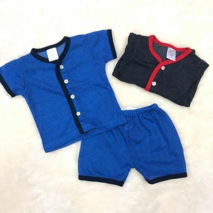 Baby Eyelet Short Sleeve+Short Pant(Color) NB-247-02