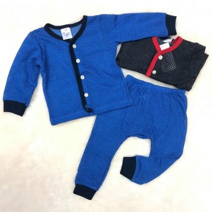 Baby Eyelet Long Sleeve+Long Pant(Color) NB-247-03