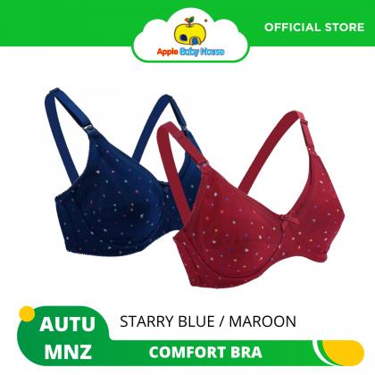 Autumnz Padded Nursing/Maternity Bra - Starry Blue/Maroon