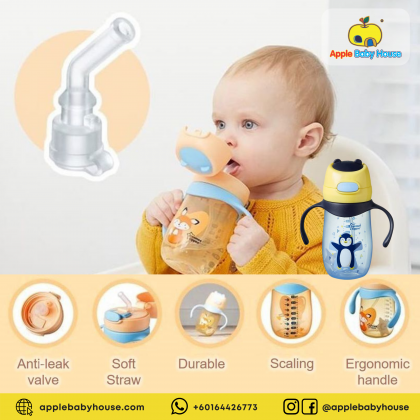 Tommee Tippee Weighted Straw Cup 2 Handle 300ml - Penguin