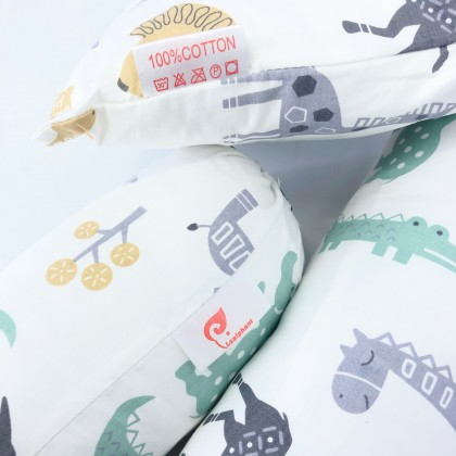 Leafphant Baby Pillow + Bolster Set
