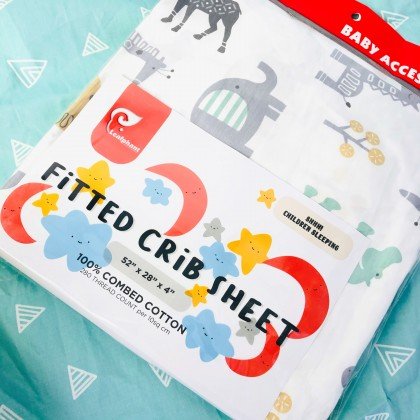 """Leafphant Bedsheet Fitted 28"""" X 52"""" X 4"""""""