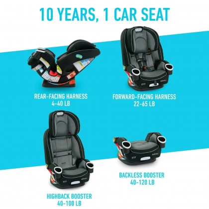 Graco 4Ever Dlx All in One Convertible Car Seat - Fairmont