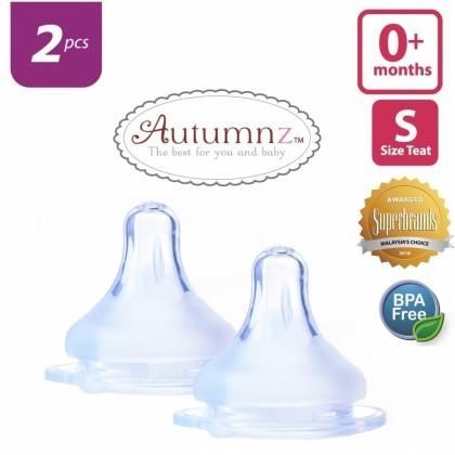 Autumnz - MAXY Soft Silicone Teat SLOW Flow *2pcs* (0+ months / Round Hole)