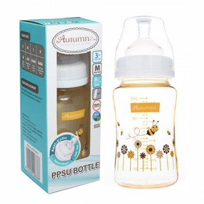 Autumnz - PPSU Wide Neck Feeding Bottle 8oz/240ml (Single)