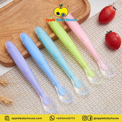 Baby Silicone Spoon Training Spoon with Box 1pc