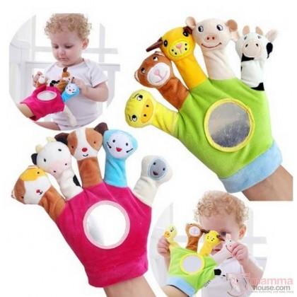 JJ Ovce Finger Hand Glove - BABY ANIMALS
