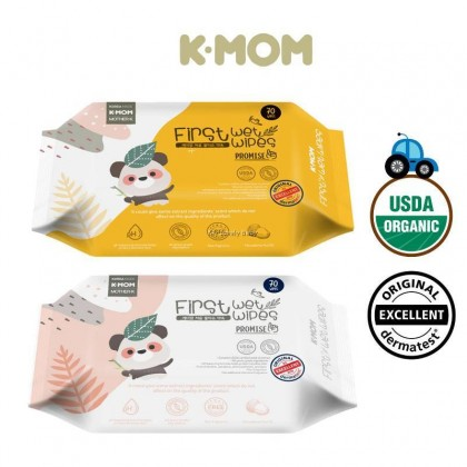 K-MOM First Wet Wipes Promise - 70pcs