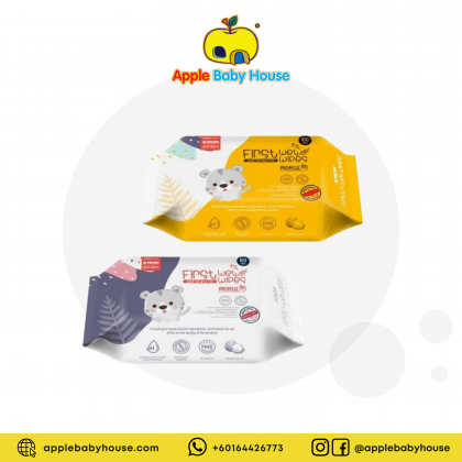 K-MOM First Wet Wipes Promise - 100pcs