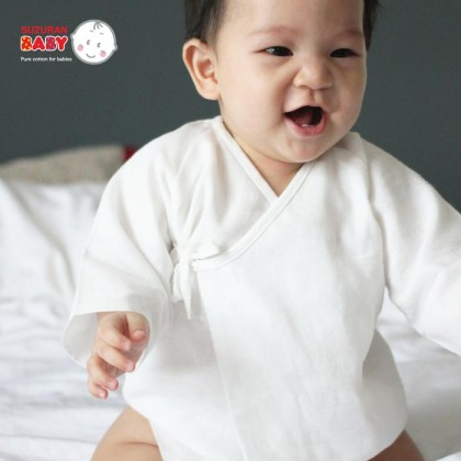Suzuran Baby Gauze Long Undershirt 2pcs