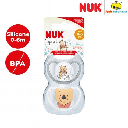 Nuk Space Winnie the Pooh Disney 0-6m Silicone-Twin