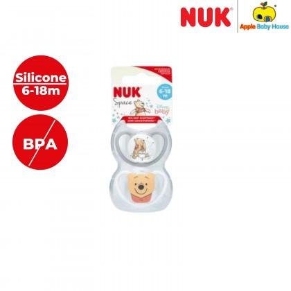 Nuk Space Winnie the Pooh Disney 6-18m Silicone-Twin