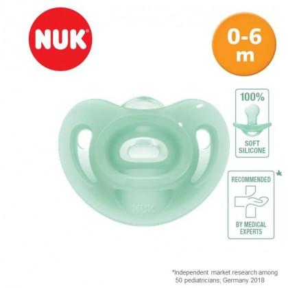 Nuk Sensitive 100% Soft Silicone 0-6m