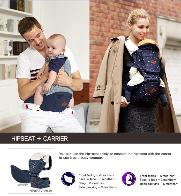 I Angel Denim Hipseat Baby Carrier