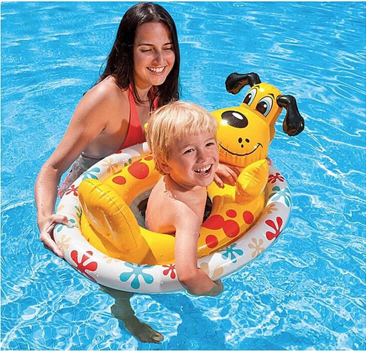 Intex see me sit pool riders dog for Intex zwembad baby